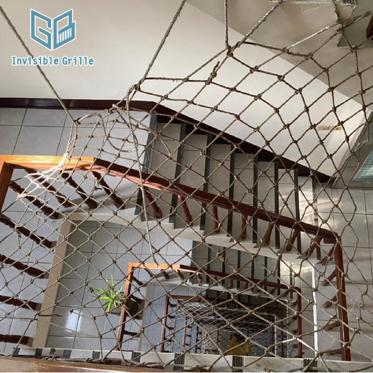 桃園隱形鐵窗,樓梯防墜網