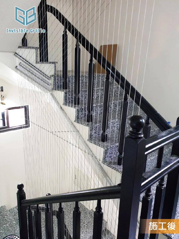樓梯間防墜 隱形鐵窗 谷賓