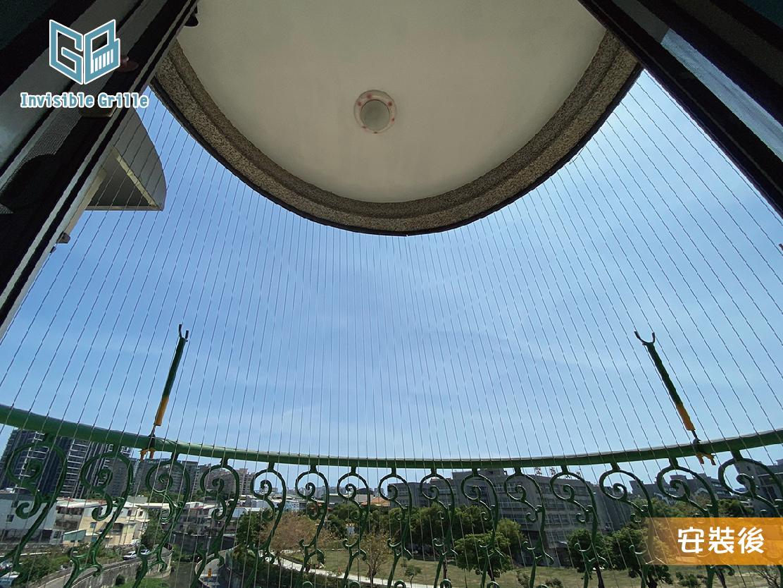 弧形陽台防墜網
